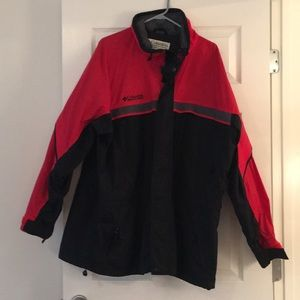 Columbia Gizmo 3 in 1 convert jacket XL red black